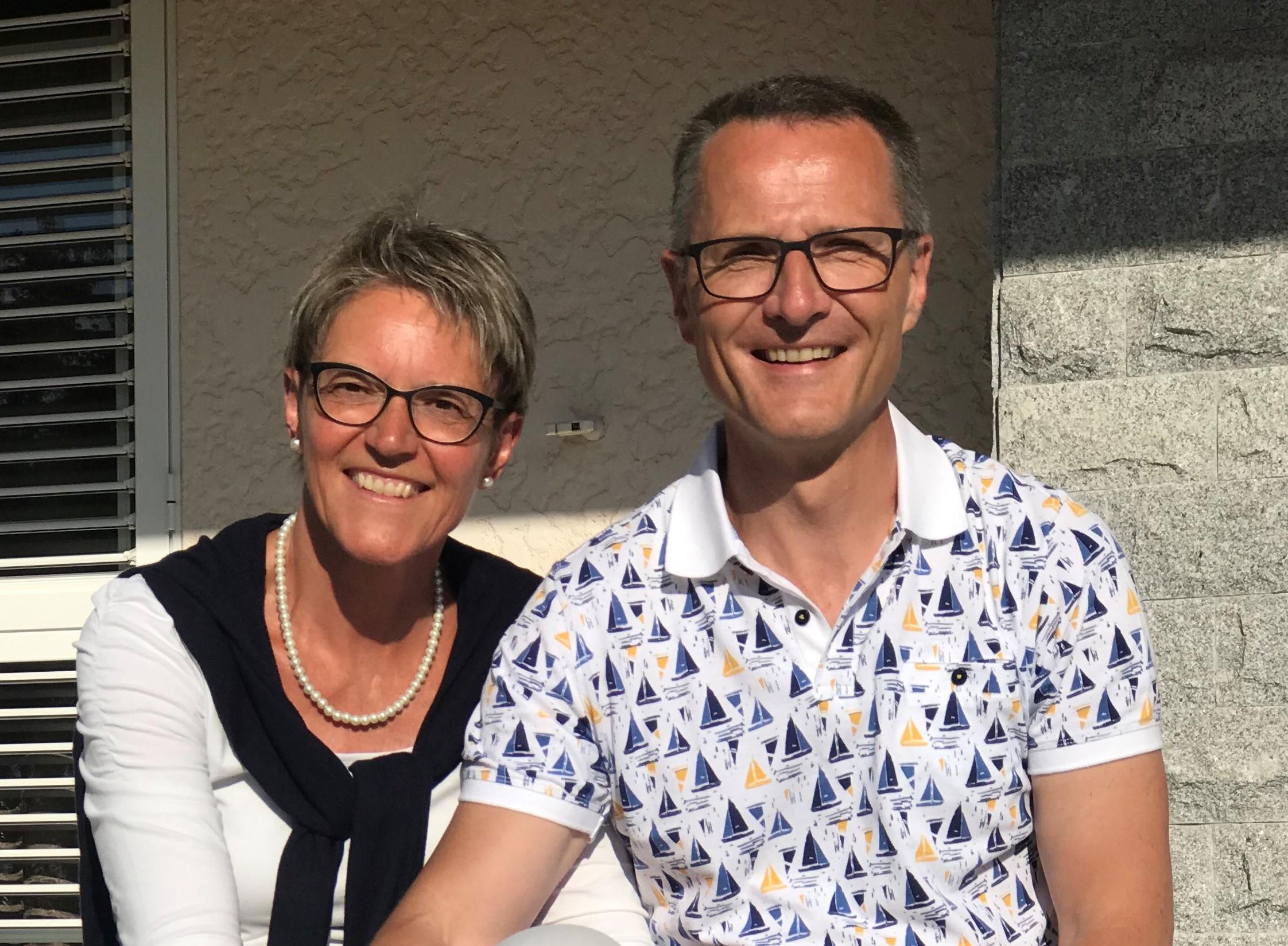 Willy Graf, neuer Leiter des BBZ Eckstein, und seine Frau  Valérie Graf