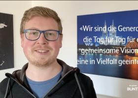 Johannes Pfeiffer präsentiert die Vision, mit der die Jugendlichen und jungen Erwachsenen der Fokolar-Bewegung online gehen
