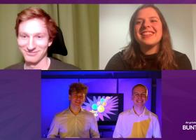Die neuen Online-Plattformen werden vom PR-Team vorgestellt: Jakob Dachs-Wiesinger(A), Auriane Freléchoz (CH) und Christian Egermann (D).